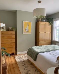 Bedroom Green, Room Ideas Bedroom, Home Decor Bedroom, Aesthetic Rooms, My New Room, Room Colors, Home And Living, Room Inspiration, Interior Design