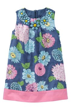 Mini Boden 'Fun' Beaded Dress (Little Girls & Big Girls) available at Nordstrom sizes 4T-10Y