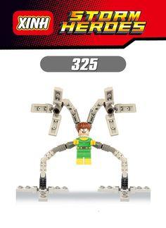 New Single Sale Marvel Super Heroes Avengers Batman Mysterio Building Blocks Figure Bricks Toys Legoes Compatible for Children