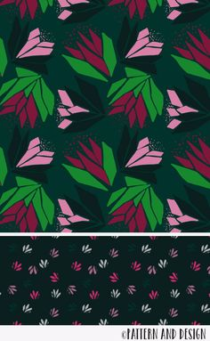 Bold pattern designer with wonderful highlights of bright green and pink. Surface pattern design by Pattern and Design from the Fluroescence Collection Kids Patterns, Floral Patterns, Patterns In Nature, Pattern Designs, Surface Pattern Design, Textile Design, Fabric Design, Sketching Techniques, Tactile Texture