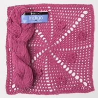 Indigo by Berroco - a gorgeous cotton yarn - plus a FREE block #crochet pattern!