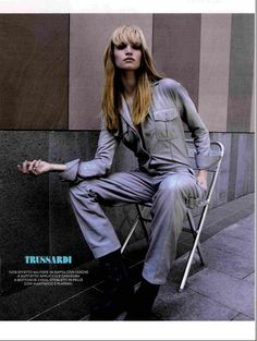 TRUSSARDI leather jumpsuit from the Fall Winter 2015/16 collection - Grazia Italy