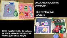 Também conhecido de quiet book, é chamado de livro sensorial porque através de diferentes sensações, as crianças descobrem formas, cores,...