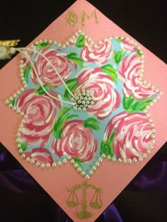 Lilly and phi mu graduation cap