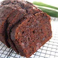Double chocolate zucchini bread,