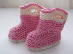 Pink boots for new baby.