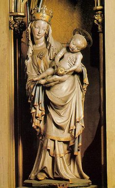 The Madonna, known as the Madonna of Plzen. St. Bartholomew's church? 1384. Czechoslovakia?