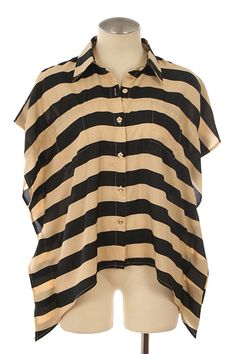 STRIPE PRINT BUTTON DOWN SHIRT