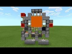 Works for bedrock only! Minecraft Redstone Tutorial, Minecraft Redstone Creations, Art Minecraft, Minecraft Structures, Minecraft Plans, Minecraft Decorations, Amazing Minecraft, Cool Minecraft Houses, Minecraft Blueprints