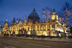 Belfast City Hall is the civic building of the Belfast City Council. Located in Donegall Square - it divides the commercial and business areas of the city centre.