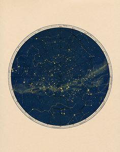 2  Constellation Map Celestial Chart Print in by CapricornPress