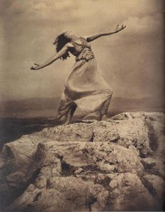 Edward Steichen - Therese Duncan on the Acropolis, Athens, 1921.  … from Edward Steichen: Lives in Photography, by Todd Brandow and William A. Ewing, Foundation for the Exhibition of Photography, and the Musee de l'Elysee, Lausanne, 2007.