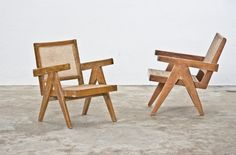 Pierre Jeanneret, 1966, lounge chairs for Chandigarh