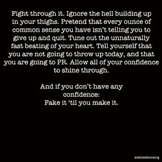 This is how I feel on my morning runs when I go to the gym or play a game of basketball! We don't give up! No matter how the burn feels!