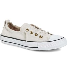 Love these tenni's for summer and fall! Off-white and classic Women's Converse Chuck Taylor All Star Shoreline Peached Twill Sneaker Converse Chuck Taylor All Star, Chuck Taylor Sneakers, Chuck Taylors, Converse Shoreline, Converse Style, Women's Converse, Everyday Shoes, Nordstrom Anniversary Sale, Athletic Shoes