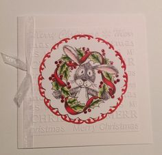 Craftwork Cards Warren Rabbit Craftwork Cards, Hobbies And Crafts, I Card, Card Ideas, Christmas Cards, Rabbit, Christmas E Cards, Bunny, Rabbits