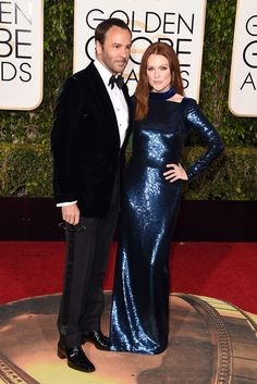 Tom Ford + Julianne MooreOkay, okay. So they're not a couple per se, but they're BFFs and, like, look how good they look together. Can you even? We can't.