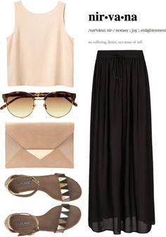 Summer Maxi Skirt Outfit ♡♡