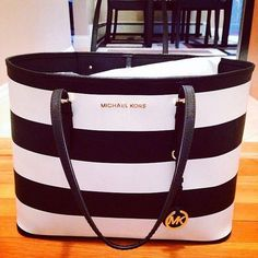 NWT Michael Kors Medium MK Signature PVC Leather Tote Bag Purse Handbag Brown #MichaelKors #ShoulderBag