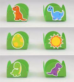 Dinossauro Baby Forminhas Docinhos | Gedu - Arte em Papel | Elo7