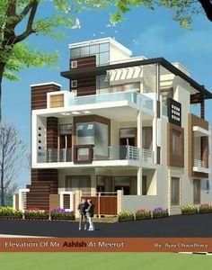 Resultado de imagen para latest front elevation of home designs Bungalow House Design, House Front Design, Modern House Design, House Design Photos, Latest House Designs, New Home Designs, Modern Bungalow Exterior, Indian House Plans, House Elevation