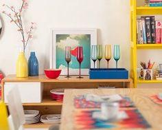 Conjunto Taças para Champanhe Rici Colorido 270ml - 6 Peças
