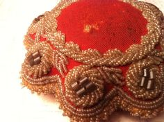 Victorian Pin Cushion Iroquois Beadwork