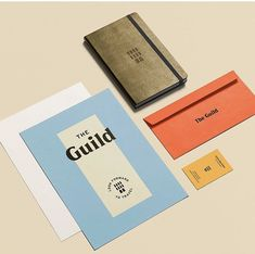 A healthy mix of vintage and modern branding on this one, from color scheme to type design. Collateral Design, Stationary Design, Graphic Design Branding, Typography Design, Logo Design, Type Design, Brand Packaging, Packaging Design, Material Design