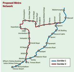 awesome Chennai Metro Map