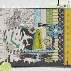 Free Destination Adventure Kit  by Amy wolff designs : August Digi Scrap Parade 2013