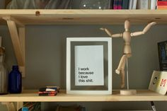 Cadre avec affiche, sans Marie-Louise | Homemade frame with a message. #DIY