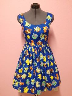 Pokemon Pikachu and Starters Dress by CakeShopCouture on Etsy