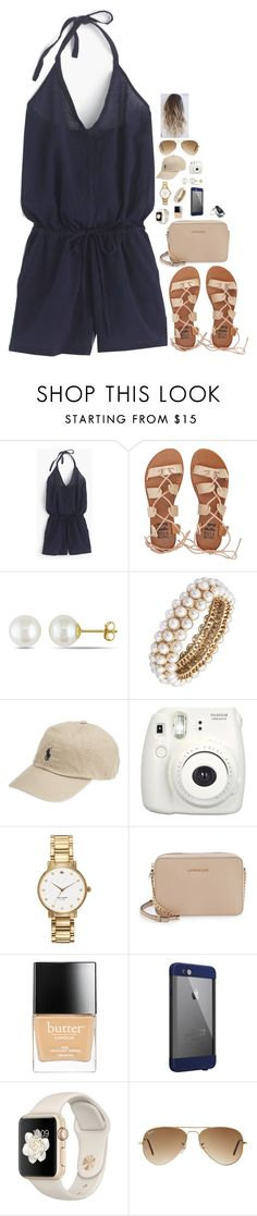 """Navy and Beige"" by lrsoccergal35 ❤ liked on Polyvore featuring J.Crew, Billabong, Miadora, Anne Klein, Fujifilm, Kate Spade, MICHAEL Michael Kors, Butter London, LifeProof and Ray-Ban"