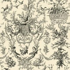 Old World Toile | Wallpaper Warehouse