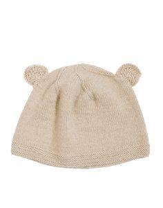 Bear Beanie - Oatmeal