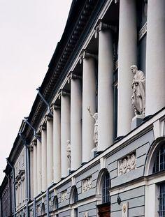 SPB Building the Russian National Library, architect K.Rossi, corner of Nevsky Prospekt and Sadovaya street (1828-1834)