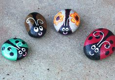 painting on rocks free patterns | rocks here are some more painted rocks on display i just love to paint ...