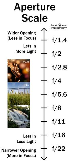 Aperture Scale - all you need to know about aperture in one simple graph | Boost Your Photography