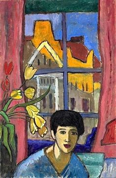 Gabriele Münter - Future, Approaching (Woman in Stockholm) 1917