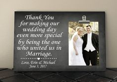 Thank You Wedding Card Wedding Thank You Officiant Thank You Card Wedding Card Ideas Wedding Day Cards Thank You For Marrying Us Card
