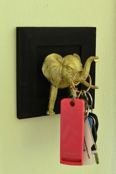 DIY elephant hook; key holder. CohesiveRandomness