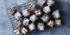 You may have given up sugar, but this does not mean you have to give up lamingtons. It is after all Australia's unofficial national dessert. Here are our Healthy Chocolate Lamingtons, enjoy! – I Quit Sugar Sugar Free Desserts, Sugar Free Recipes, Low Carb Desserts, Healthy Desserts, Healthy Recipes, Lamingtons Recipe, 28 By Sam Wood, Healthy Sugar, Healthy Food