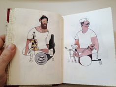 red sketchbook by Riccardo Guasco, via Behance