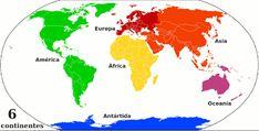 Resultado de imagen para mapa planisferio con los continentes