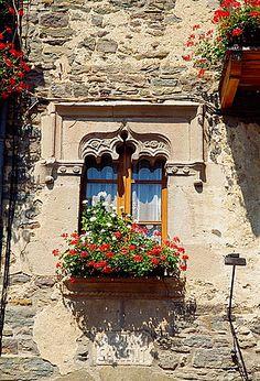 Window. Rupit, Barcelona province, Catalonia.
