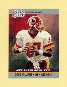 1990 Pro Set Super Bowl MVP's Football #22 Doug Williams - Washington Redskins