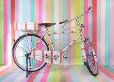 colorful masking tape #bike   graphic designer Koji Iyama   mt-ex sendai