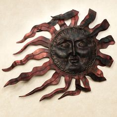 Ray du Soleil Metal Wall Sculpture Copper  BOAT HOUSE