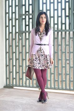 How to Wear Colored Tights - A. Vintage Splendor