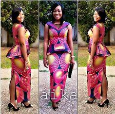 ankara dress designs for weddings 2016 - style you 7 African Dresses For Women, African Print Dresses, African Print Fashion, Africa Fashion, African Attire, African Wear, African Women, African Prints, Men's Fashion